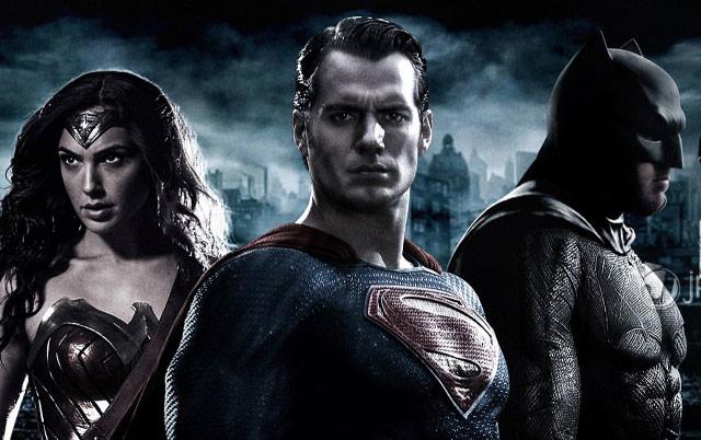 Промо-баннер фильма «Бэтмен против Супермена»