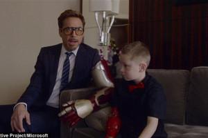 Роберт Дауни мл. подарил ребенку бионическую руку