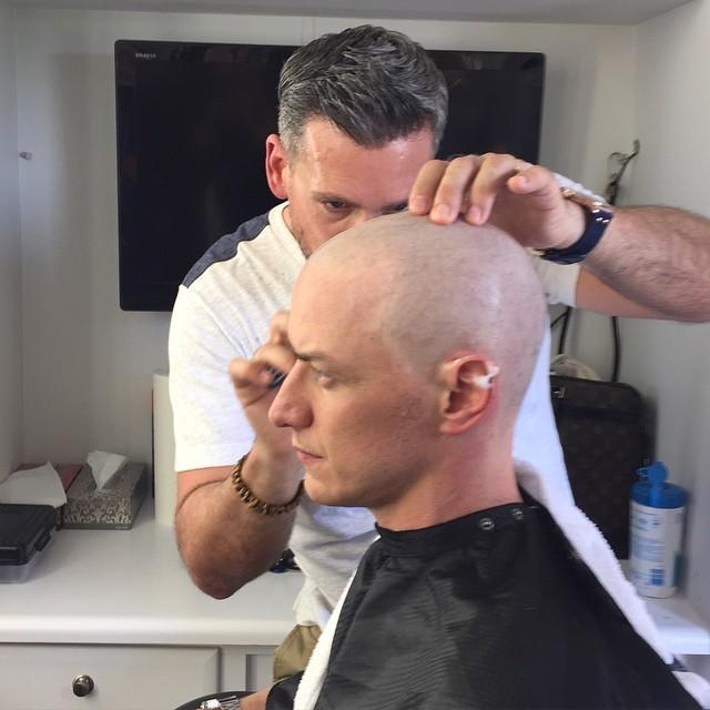 МакЭвой побрился налысо для роли Профессора Ксавьера в «Люди Икс: Апокалипсис»